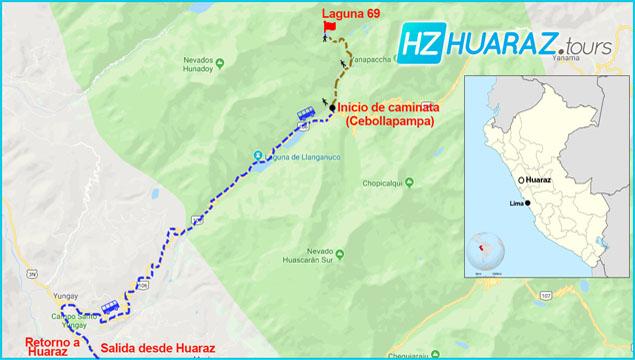 Itinerario laguna 69