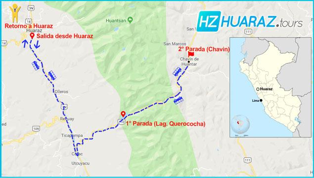 Itinerario de tours Chavín de Huantar