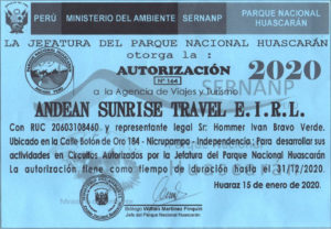 Parque Nacional Huascaran Licencia